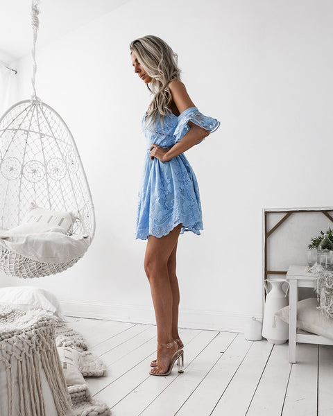NARNIA DRESS - BABY BLUE - Born To Be Chic