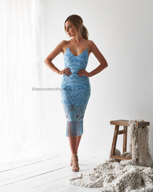 KHALEESI DRESS - BABY BLUE
