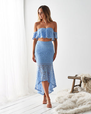 CATALINA LACE SET - BABY BLUE