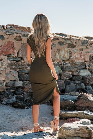 SORRELLI DRESS - KHAKI