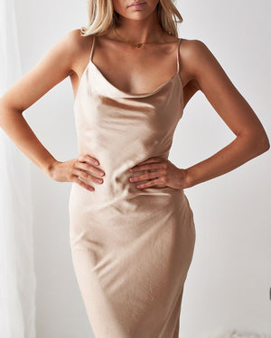 NATALIA DRESS - METALLIC GOLDEN
