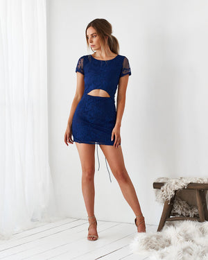 TWO SISTERS THE LABEL: SHAY LACE DRESS - NAVY