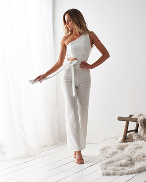 POLLY JUMPSUIT - WHITE