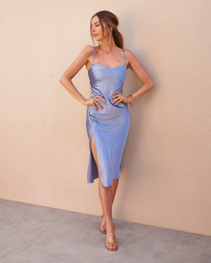 PROSECCO DRESS - BLUE