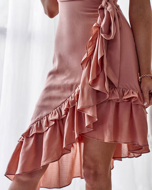 TWO SISTERS THE LABEL: LISBORN DRESS - PEACH