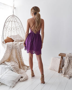AURELIA DRESS - PURPLE