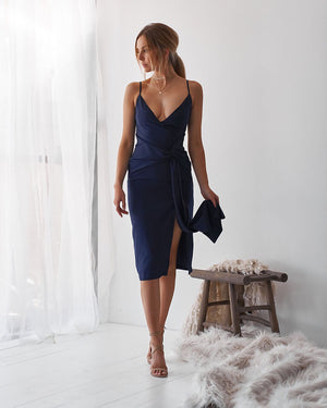NEO DRESS - NAVY