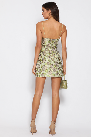 ELODIE MINI DRESS - GREEN
