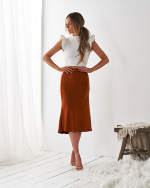 LUELLA SKIRT - RUST