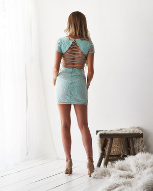SHAY LACE DRESS - MINT