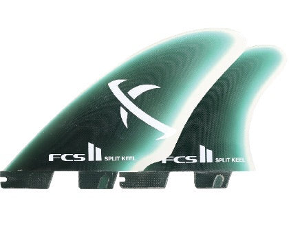 FCS II MB Split Keel Quad Fins - Mint
