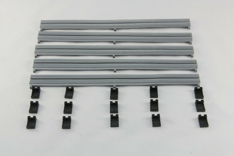 SCALEXTRIC SPORT / DIGITAL BARRIERS - C8212 - ARMCO BARRIERS (5) AND CLIPS (15)