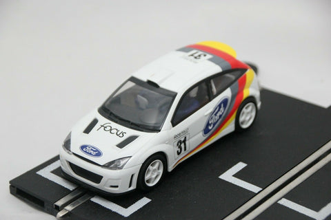 SCALEXTRIC SPORT CAR - C2427 - FORD FOCUS - WRC RALLY CAR - WHITE - #31