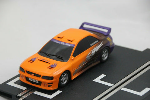 SCALEXTRIC SPORT CAR - C2607 - SUBARU IMPREZA - STREET CAR - ORANGE