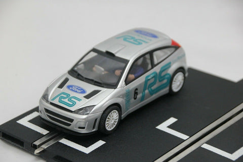SCALEXTRIC SPORT CAR - C2380 - FORD FOCUS - WRC RALLY CAR - SILVER - #6
