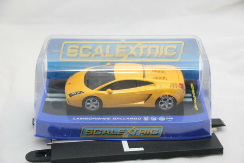 SCALEXTRIC DPR CAR - C2810 - LAMBORGHINI GALLARDO - ROAD - YELLOW