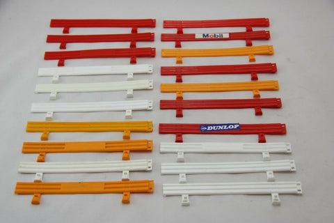 SCALEXTRIC CLASSIC ARMCO BARRIERS - A274 - MIXED COLOURS - x20