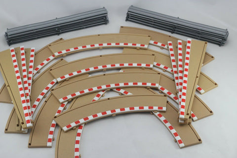 SCALEXTRIC SPORT / DIGITAL BORDERS - C8228 C8233- 3 X 180 DEGREE OUTER CURVES