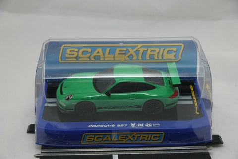 SCALEXTRIC DPR CAR - C3074 - PORSCHE 911 GT3 - GREEN