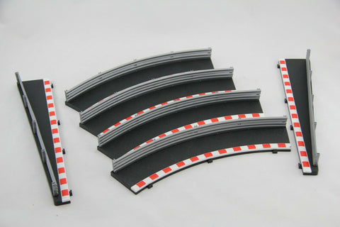 SCALEXTRIC SPORT / DIGITAL BORDERS - C8228 C8233- 1 X 180 DEG OUTER CURVE BLACK