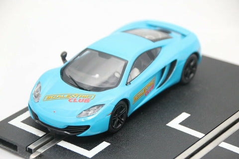 SCALEXTRIC DPR CAR - C3327 - MCLAREN MP4-12C - SCALEXTRIC CLUB 2012 - BLUE