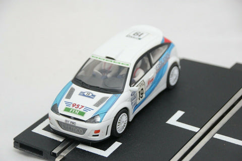 SCALEXTRIC SPORT CAR - C2343 - FORD FOCUS - WRC RALLY CAR - #19 - WHITE