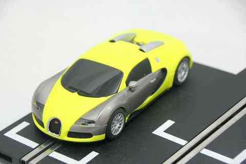 SCALEXTRIC DPR CAR - C3275 - BUGATTI VEYRON - ROAD - YELLOW