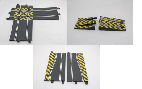 SCALEXTRIC SPORT / DIGITAL TRACK - HAZARD PACK - CROSSOVER - SIDE SWIPE - JUMP