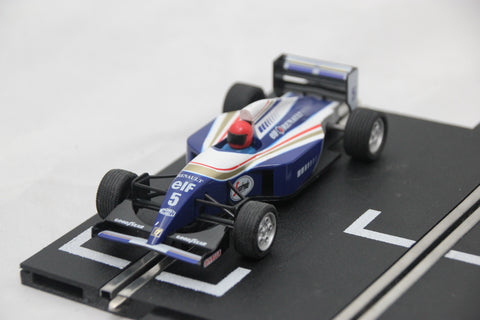 SCALEXTRIC CLASSIC CAR - C533 - WILLIAMS RENAULT FW18 - DAMON HILL - BLUE - #5