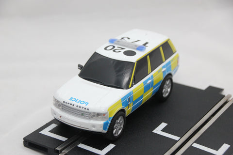 SCALEXTRIC DRIFT CAR - C2833 - RANGE ROVER POLICE CAR - WORKING LIGHTS & SIREN