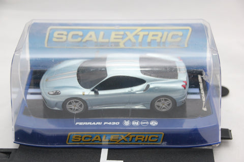 SCALEXTRIC DPR CAR - C3067 - FERRARI F430 SCUDERIA - ROAD CAR - BLUE - BOXED