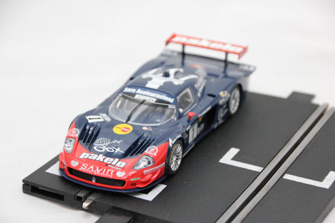 SCALEXTRIC SPORT CAR - C2728 - MASERATI MC12 - GT3 - RED / BLUE - PAKELO - #1