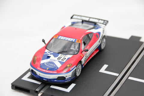 SCALEXTRIC DPR CAR - C2804 - FERRARI F430 - SCUDERIA ECOSSE - 62 - LIGHTS