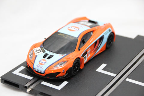 SCALEXTRIC DIGITAL CAR - FROM SET - MCLAREN 12C GT3 - GULF - BLUE / ORANGE- #21