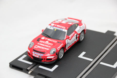 SCALEXTRIC DIGITAL CAR - C2899 - PORSCHE 997 GT3 - BURGFONDS - RED - #2