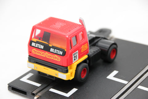SCALEXTRIC CLASSIC CAR - C2070 - RACING TRUCK - RED - DEMON TWEAKS