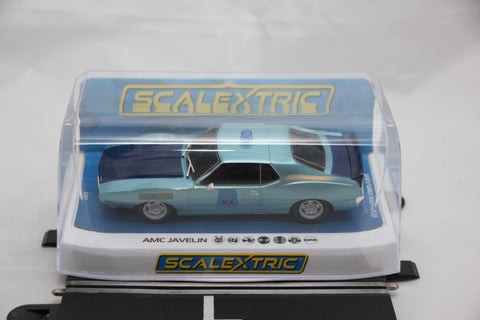 SCALEXTRIC DPR CAR - C4058 - AMC JAVELIN - ALABAMA POLICE CAR - WORKING LIGHTS /SIREN