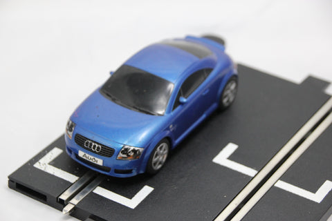SCALEXTRIC SPORT CAR - C2507 - AUDI TT - ROAD - BLUE