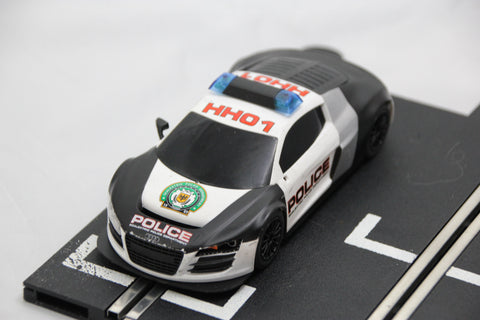 SCALEXTRIC DPR CAR - FROM SET - AUDI R8 - POLICE CAR - WORKING LIGHTS AND SIREN