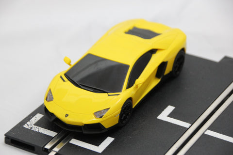 SCALEXTRIC DIGITAL CAR - FROM SET - LAMBOGHINI AVENTADOR - ROAD CAR - YELLOW