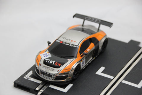 SCALEXTRIC DPR CAR - FROM SET - AUDI R8 GT3 - FLAT EX - SILVER - #26
