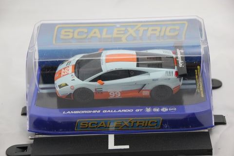 SCALEXTRIC DIGITAL CAR - C3283 - LAMBOGHINI GALLARDO GT - GULF LIVERY - 99