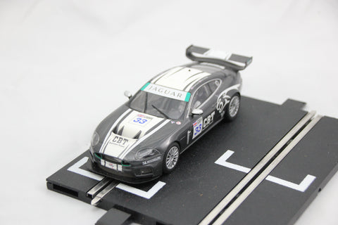 SCALEXTRIC DIGITAL CAR - C2978 - JAGUAR XKR - GREY - #33 - LIGHTS