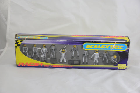 SCALEXTRIC TRACKSIDE PROPS - C8294 - SILVER PIT CREW - WHEEL CHANGE