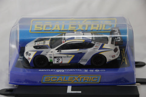 SCALEXTRIC DPR CAR - C3515 - BENTLEY CONTINENTAL - GT3 - WHITE - 2