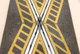 SCALEXTRIC CLASSIC TRACK - PT82 - STRAIGHT CROSSOVER - YELLOW HASH - X2