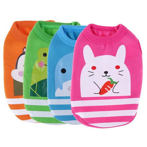Cute Cartoon Dog Vest Puppy Cat Costume Cotton Clothes for Small Dogs Coat Newborn Dog Cat Sweater T-shirt Pet Apparel