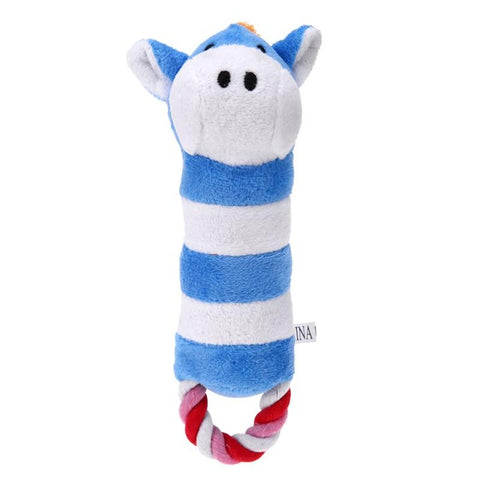 Dog Toys Chew Sound Toy Funny Soft Stuffed Animal Plush Doy Toy Cute Calf Donkey Elephant Pet Products