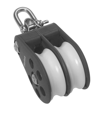 Barton Double Pulley Block with Reverse Shackle, Series 5 - whitstable-marine