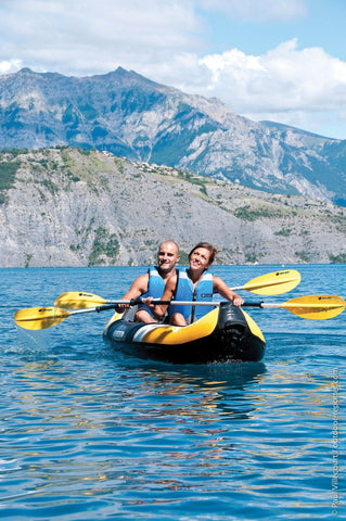 Sevylor Colorado 2 Person Inflatable Kayak Complete Kit with 2 paddles & pump